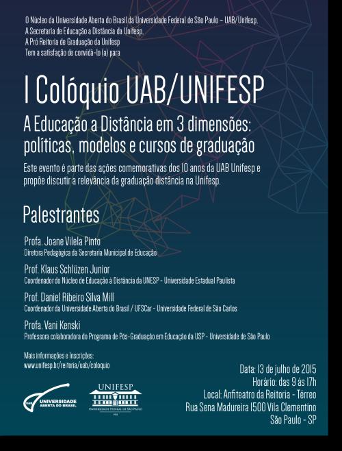 I Colóquio UAB/UNIFESP